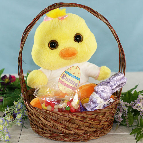 Personalized Flapper Chick Easter Gift Basket GBAU08686-1537