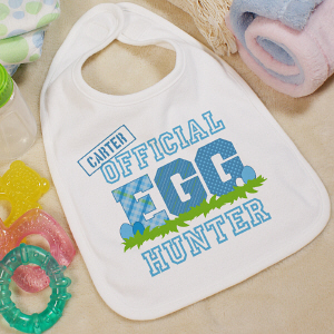 Personalized Easter Egg Baby Bib