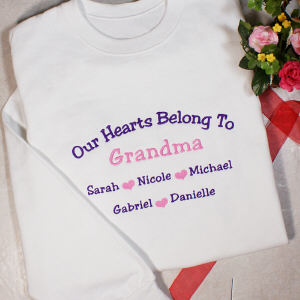 Embroidered Our Hearts Sweatshirt