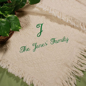 Personalized Family Name Afghan | Personalized Afghan