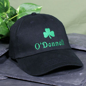 Shamrock Embroidered Black Hat