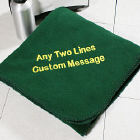 Embroidered Message Throw Blankets