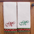 Embroidered Christmas Guest Towels