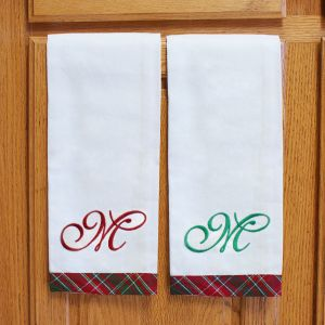 Embroidered Christmas Towels | Embroidered Christmas Towels