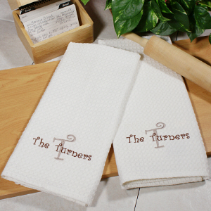 Personalized Family Kitchen Towel Set