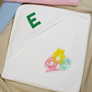 Embroidered Name or Initial Hooded Baby Towel