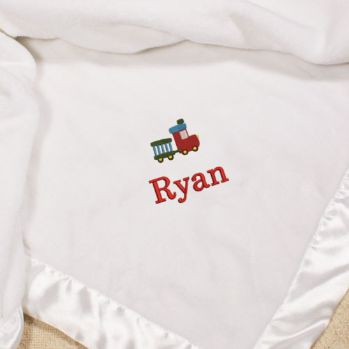 Embroidered Icon Fleece Blanket | Personalized Baby Gifts