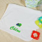 Embroidered Icon Baby Burp Cloth