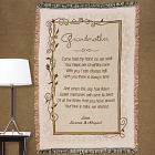 Embroidered Grandmother Come Hold Tapestry Throw Blanket
