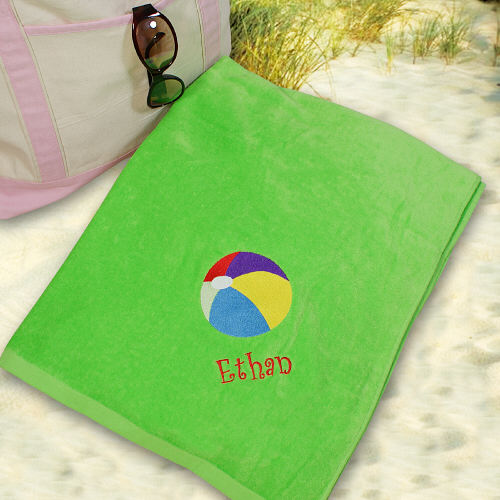 Embroidered Beach Ball Beach Towel E438731BL