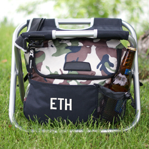 Embroidered Camo Sit and Relax Cooler | Presonalized Coolers