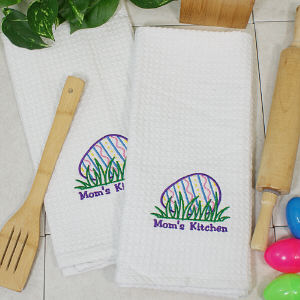 Embroidered Easter Egg Hand Towel Set