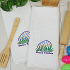 Embroidered Easter Egg Kitchen Towel Set