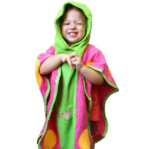 Embroidered Butterfly Hooded Bath Towel