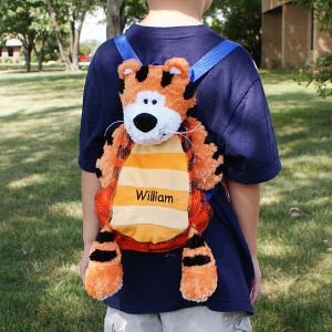 Embroidered Silly Tiger Sac
