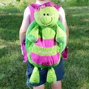 Embroidered Silly Turtle Sac