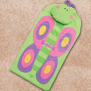 Embroidered Butterfly Nap Mat