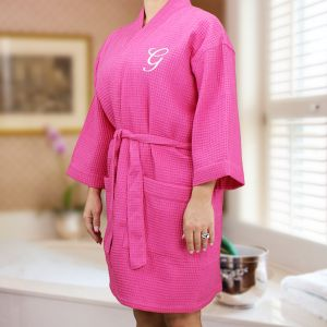 Embroidered Initial Robe E7633128X