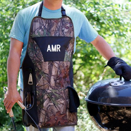 Embroidered Camo Grill Master Plus Apron | Personalized Aprons