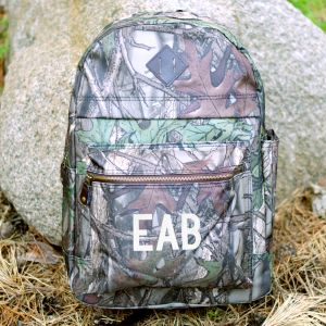Embroidered Camo Computer Backpack | Outdoor Groomsmen Gifts
