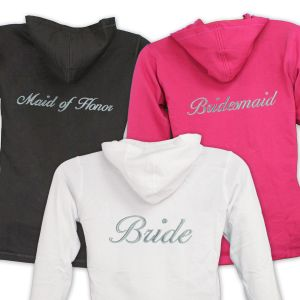 Embroidered Bridal Party Ladies Hoodie