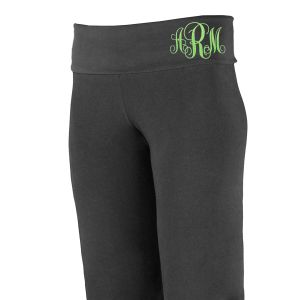 Monogram Ladies Yoga Pants