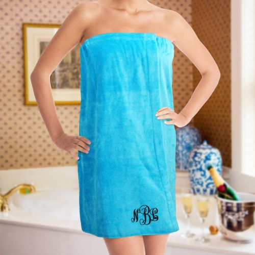 Monogram Spa Wrap | Monogrammed Towel Wraps