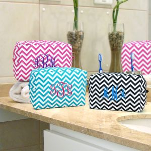 Embroidered Chevron Cosmetic Bag E7673131X