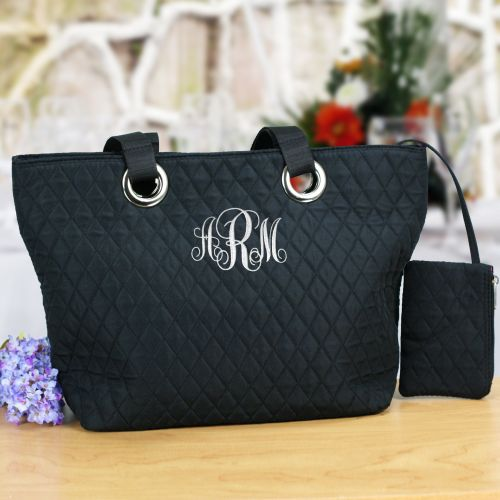 Monogram Quilted Bag | Personalized Bridesmaid Bags