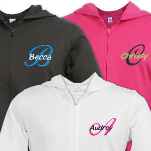 Embroidered Ladies Zip Hoodie E7680242X
