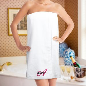 Embroidered Ladies Spa Wrap