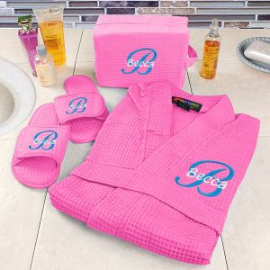 Embroidered Hot Pink Spa Gift Set E7680176X