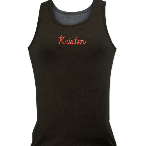 Embroidered Ladies Tank Top E7681125X