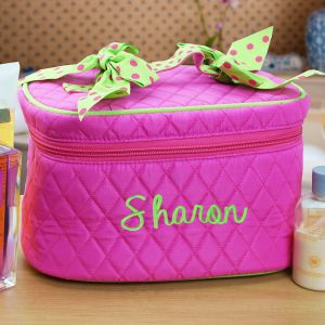 Embroidered Cosmetic Case