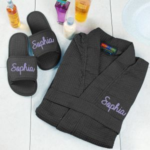 Personalized Robe and Slippers Set