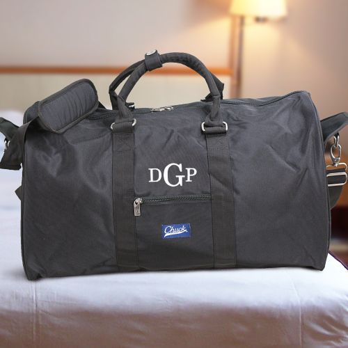 Monogram Chuck Duffel Bag Black | Unique Groomsmen Gifts