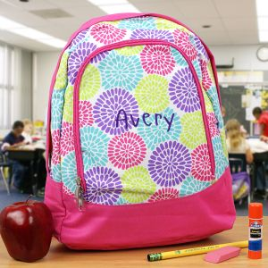 Embroidered Flower Preschool Backpack