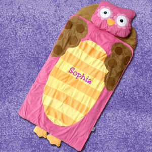 Embroidered Owl Nap Mat