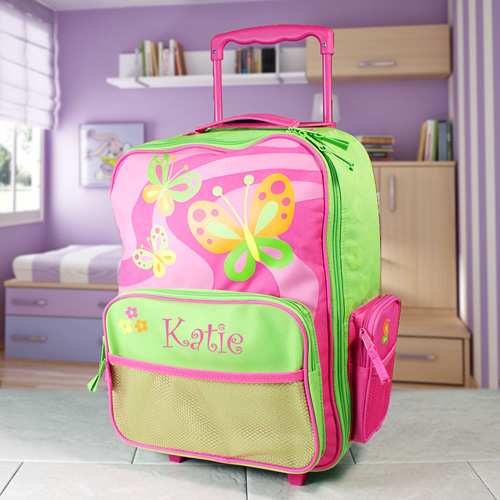 Embroidered Butterfly Travel Luggage