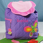 Embroidered Butterfly Quilted Backpack G00714SJ