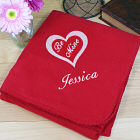 Embroidered Be Mine Throw Blanket