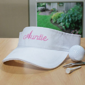 Embroidered White Visor | Personalized Visors