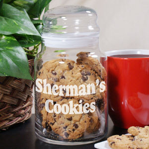 Engraved Any Message Glass Cookie Jar 240734