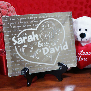 Personalized Couples Keepsake Mirror Plaque