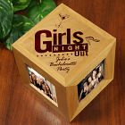 Engraved Girls Night Out Wooden Photo Cube