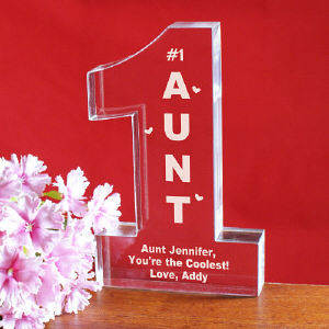 Personalized 1 Aunt Keepsake