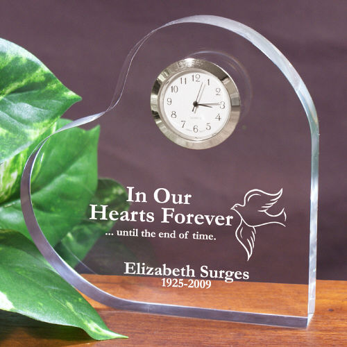 In Our Hearts Forever Personalized Memorial Heart Keepsake 737162