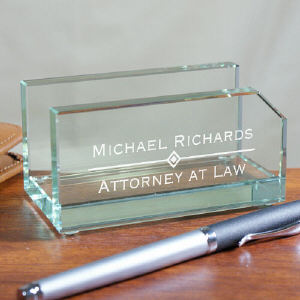 Engraved Professional Business Card Holder