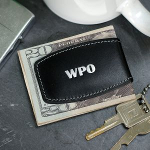Personalized Black Bulged Money Clip