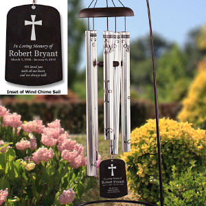 Engraved Monogram Memorial Wind Chimes